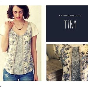 Anthropologie Tiny (brand) Petty Floral Tee